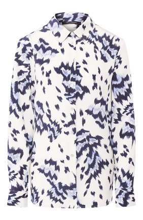 Женская шелковая блузка ST. JOHN голубого цвета, арт. K31ZW02   Фото 1