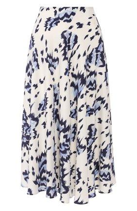 Женская шелковая юбка ST. JOHN голубого цвета, арт. K71ZW12 | Фото 1