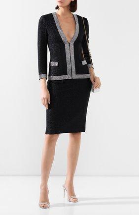 Женская шерстяная юбка ST. JOHN темно-синего цвета, арт. K75Z002 | Фото 2