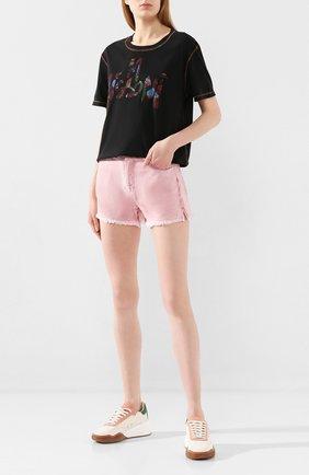 Женские джинсовые шорты TWO WOMEN IN THE WORLD розового цвета, арт. D0NY/YHR4A | Фото 2