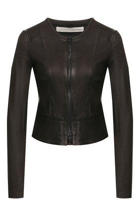 Женская кожаная куртка ISABEL BENENATO черного цвета, арт. DL12S20 | Фото 1
