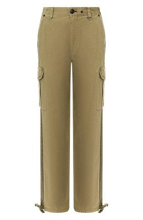 Женские хлопковые брюки RAG&BONE хаки цвета, арт. WCW20S70173417 | Фото 1