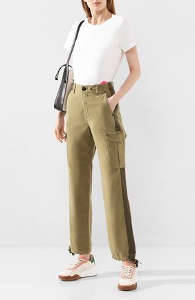 Женские хлопковые брюки RAG&BONE хаки цвета, арт. WCW20S70173417 | Фото 2