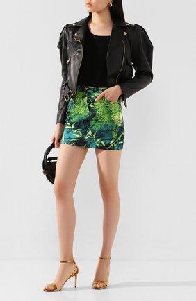 Женская джинсовая юбка VERSACE зеленого цвета, арт. A86580/A234709 | Фото 2