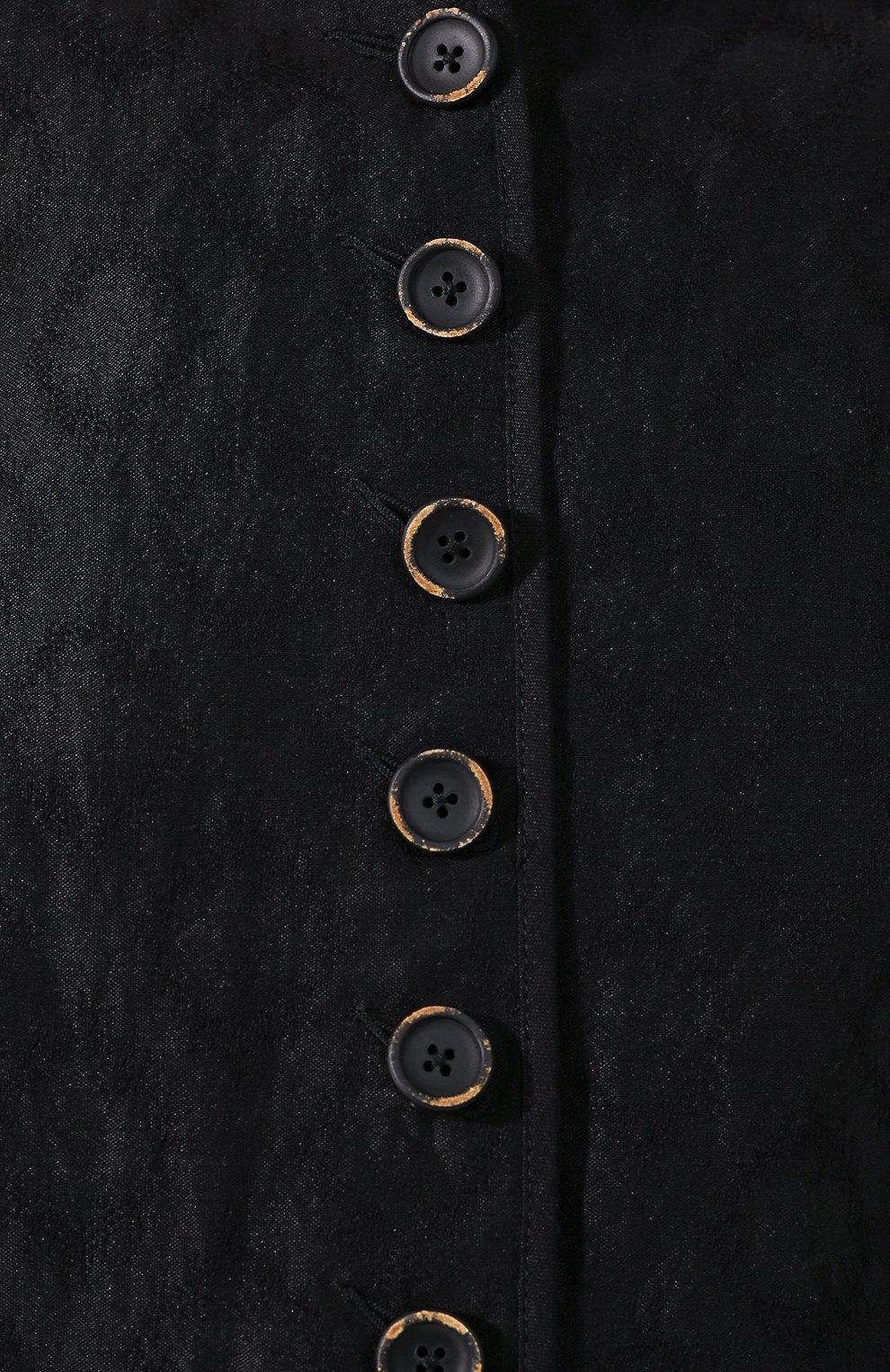 Женский жилет из смеси льна и хлопка UMA WANG черного цвета, арт. P0 W UW6023   Фото 5