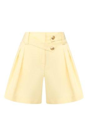 Женские хлопковые шорты MAX&MOI желтого цвета, арт. E20SUEDE | Фото 1