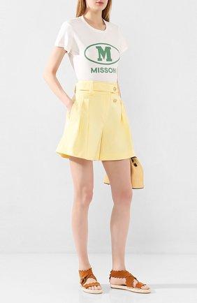 Женские хлопковые шорты MAX&MOI желтого цвета, арт. E20SUEDE | Фото 2