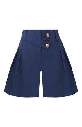 Женские хлопковые шорты MAX&MOI синего цвета, арт. E20SUEDE | Фото 1