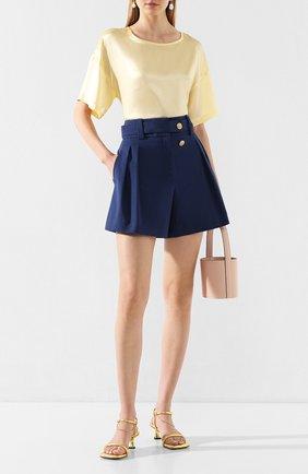 Женские хлопковые шорты MAX&MOI синего цвета, арт. E20SUEDE | Фото 2