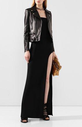 Женское шерстяное платье ANN DEMEULEMEESTER черного цвета, арт. 2001-2366-188-099   Фото 2
