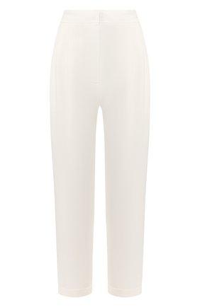 Женские льняные брюки LE KASHA белого цвета, арт. WIDI000   Фото 1