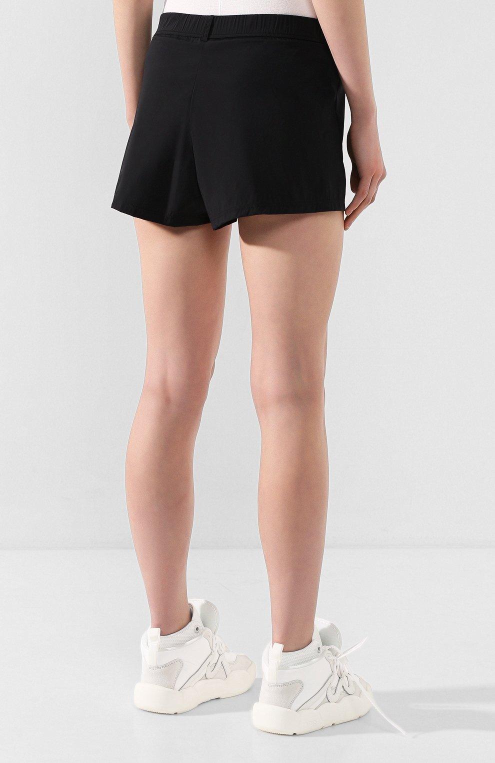 Женские шорты OFF-WHITE черного цвета, арт. 0WVH004S20FAB0011001   Фото 4 (Женское Кросс-КТ: Шорты-одежда; Длина Ж (юбки, платья, шорты): Мини; Материал внешний: Синтетический материал; Стили: Спорт-шик; Материал подклада: Синтетический материал)