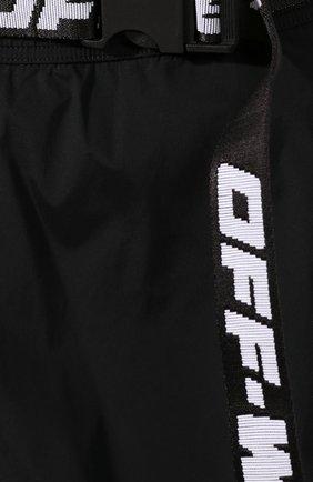 Женские шорты OFF-WHITE черного цвета, арт. 0WVH004S20FAB0011001   Фото 5 (Женское Кросс-КТ: Шорты-одежда; Длина Ж (юбки, платья, шорты): Мини; Материал внешний: Синтетический материал; Стили: Спорт-шик; Материал подклада: Синтетический материал)