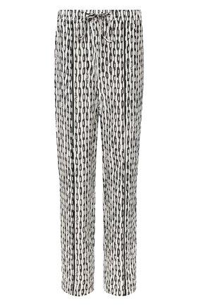 Женские шелковые брюки NUDE черно-белого цвета, арт. 1103771/TR0USERS | Фото 1