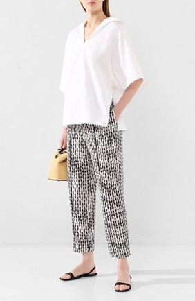 Женские шелковые брюки NUDE черно-белого цвета, арт. 1103771/TR0USERS | Фото 2
