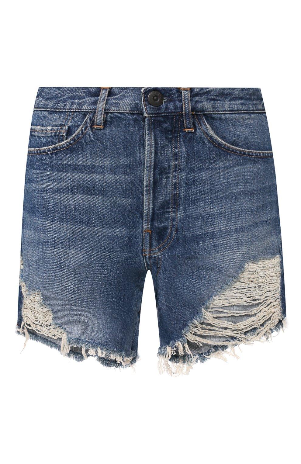 Женские джинсовые шорты 3X1 синего цвета, арт. WSX4S0866/JILL | Фото 1 (Женское Кросс-КТ: Шорты-одежда; Кросс-КТ: Деним; Длина Ж (юбки, платья, шорты): Мини; Материал внешний: Хлопок; Стили: Кэжуэл)