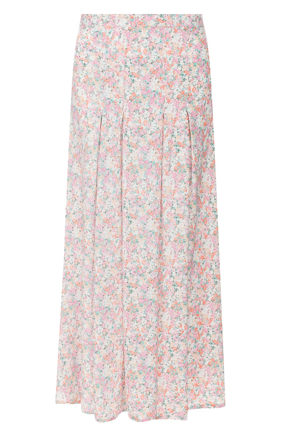 Женская юбка из вискозы FAITHFULL THE BRAND розового цвета, арт. FF1454   Фото 1 (Женское Кросс-КТ: Юбка-одежда; Длина Ж (юбки, платья, шорты): Миди; Материал внешний: Вискоза)