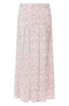 Женская юбка из вискозы FAITHFULL THE BRAND розового цвета, арт. FF1454 | Фото 1