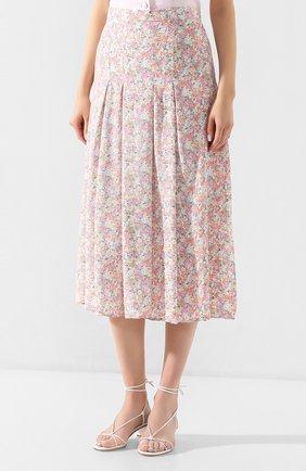 Женская юбка из вискозы FAITHFULL THE BRAND розового цвета, арт. FF1454   Фото 3 (Женское Кросс-КТ: Юбка-одежда; Длина Ж (юбки, платья, шорты): Миди; Материал внешний: Вискоза)