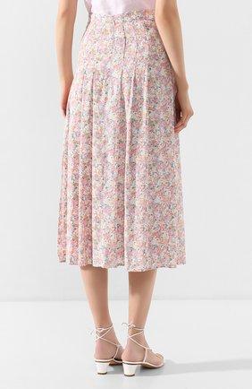 Женская юбка из вискозы FAITHFULL THE BRAND розового цвета, арт. FF1454   Фото 4 (Женское Кросс-КТ: Юбка-одежда; Длина Ж (юбки, платья, шорты): Миди; Материал внешний: Вискоза)