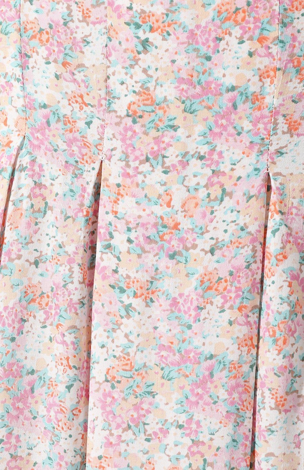Женская юбка из вискозы FAITHFULL THE BRAND розового цвета, арт. FF1454   Фото 5 (Женское Кросс-КТ: Юбка-одежда; Длина Ж (юбки, платья, шорты): Миди; Материал внешний: Вискоза)
