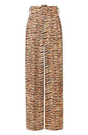 Женские льняные брюки FAITHFULL THE BRAND коричневого цвета, арт. FF1481 | Фото 1