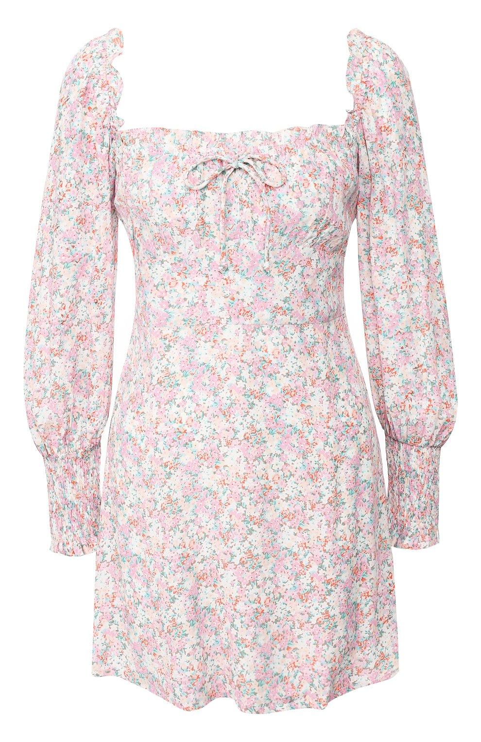 Женское мини-платье FAITHFULL THE BRAND розового цвета, арт. FF1492   Фото 1
