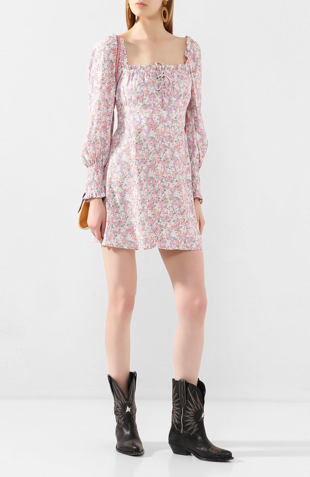 Женское мини-платье FAITHFULL THE BRAND розового цвета, арт. FF1492   Фото 2