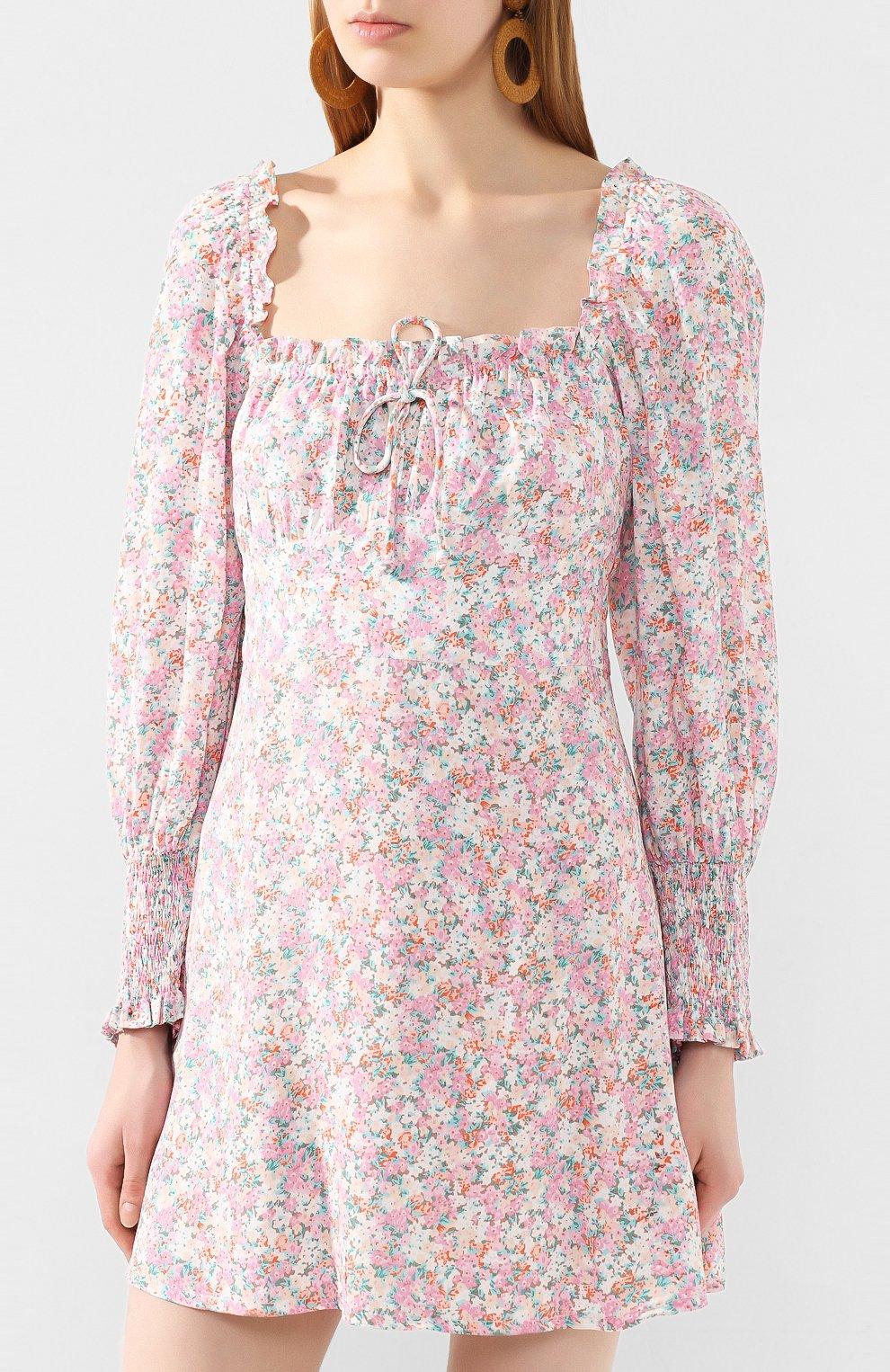 Женское мини-платье FAITHFULL THE BRAND розового цвета, арт. FF1492   Фото 3