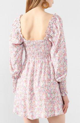 Женское мини-платье FAITHFULL THE BRAND розового цвета, арт. FF1492   Фото 4