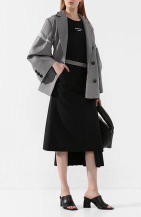 Женская шерстяная юбка HYKE черного цвета, арт. 14082 | Фото 2