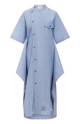 Женское хлопковое платье HYKE голубого цвета, арт. 16084 | Фото 1