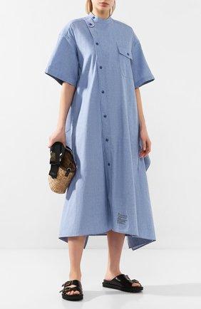 Женское хлопковое платье HYKE голубого цвета, арт. 16084 | Фото 2