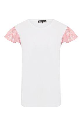 Женская хлопковая футболка MARKUS LUPFER белого цвета, арт. TEE402 | Фото 1