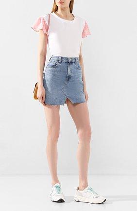 Женская хлопковая футболка MARKUS LUPFER белого цвета, арт. TEE402 | Фото 2