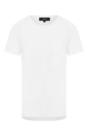 Женская льняная футболка THEORY белого цвета, арт. K0423512 | Фото 1