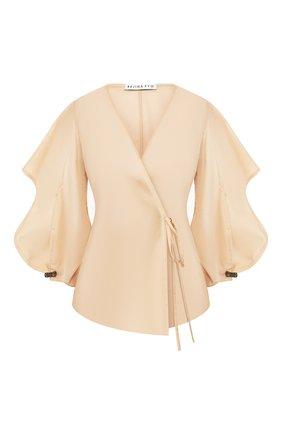 Женская хлопковая блузка REJINA PYO бежевого цвета, арт. C269/C0TT0N V0ILE   Фото 1