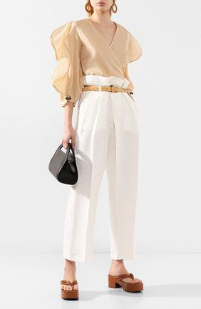 Женская хлопковая блузка REJINA PYO бежевого цвета, арт. C269/C0TT0N V0ILE   Фото 2