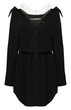 Женское шелковое платье ALEXANDER WANG черного цвета, арт. 1WC1206240 | Фото 1