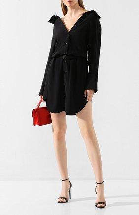 Женское шелковое платье ALEXANDER WANG черного цвета, арт. 1WC1206240 | Фото 2
