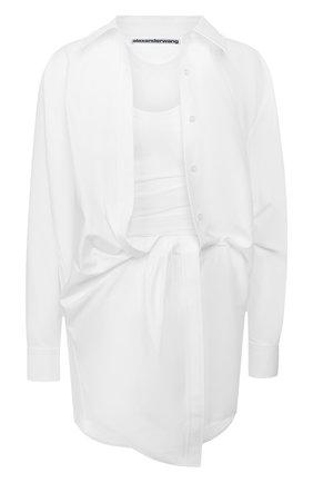 Женское хлопковое платье ALEXANDER WANG белого цвета, арт. 1WC1206242 | Фото 1