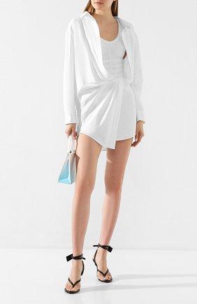Женское хлопковое платье ALEXANDER WANG белого цвета, арт. 1WC1206242 | Фото 2