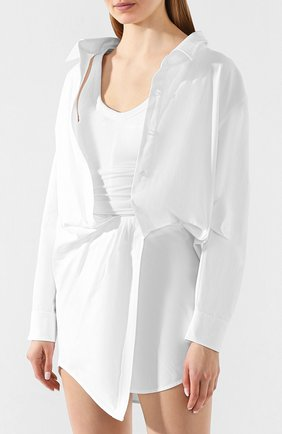 Женское хлопковое платье ALEXANDER WANG белого цвета, арт. 1WC1206242 | Фото 3