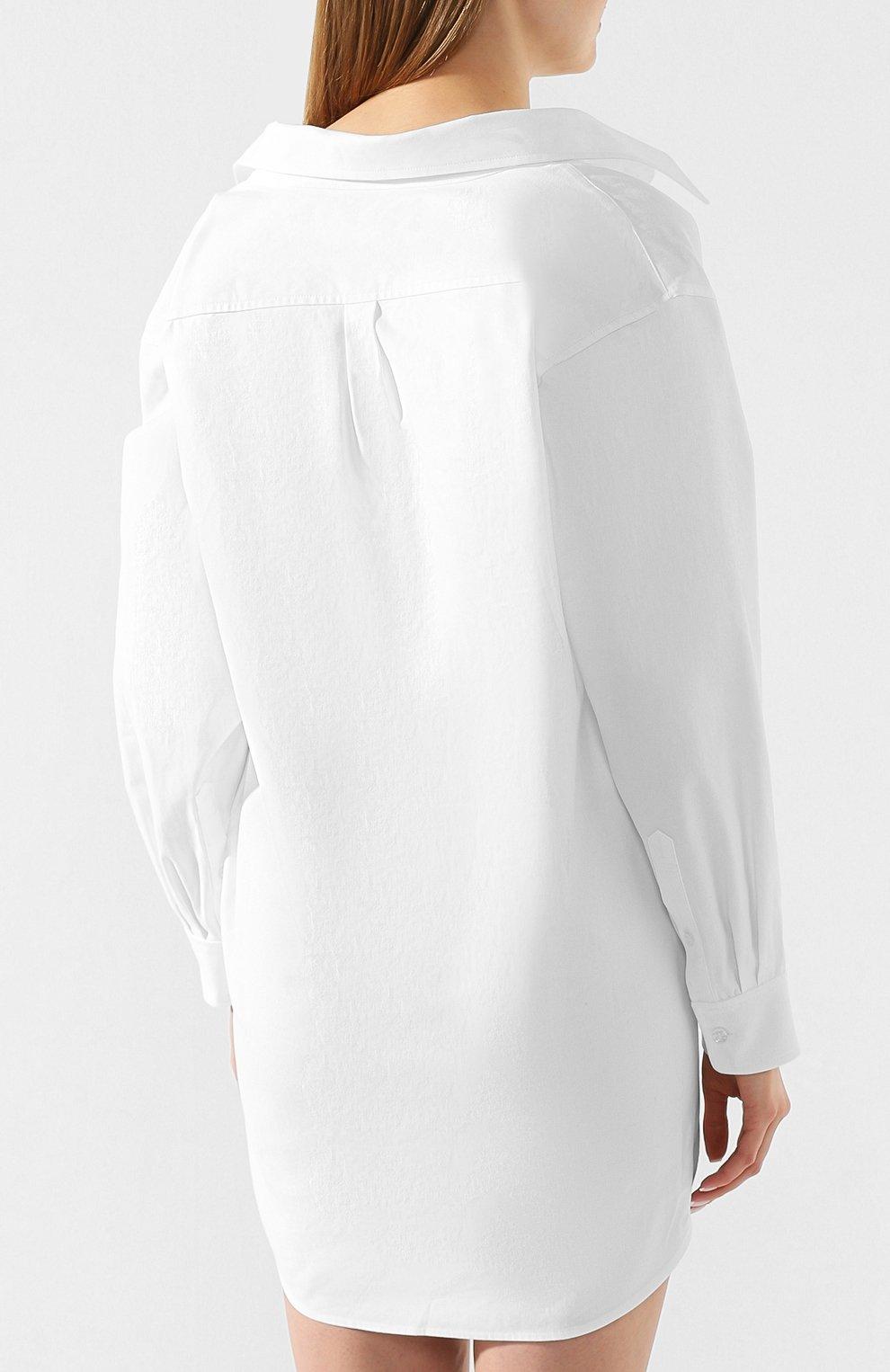 Женское хлопковое платье ALEXANDER WANG белого цвета, арт. 1WC1206242 | Фото 4
