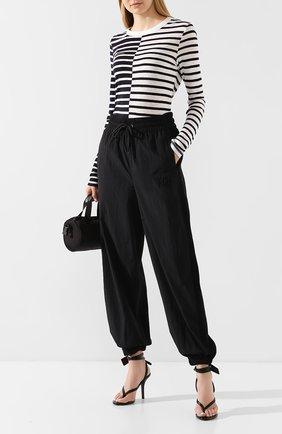 Женские брюки ALEXANDERWANG.T черного цвета, арт. 4CC1204018 | Фото 2