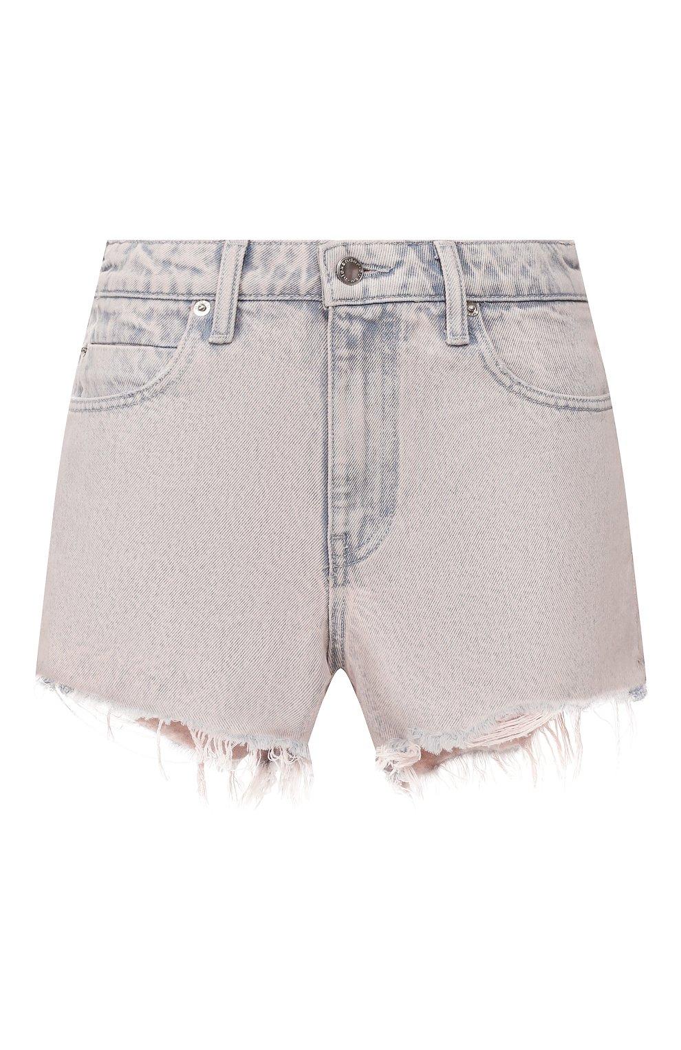 Женские джинсовые шорты DENIM X ALEXANDER WANG розового цвета, арт. 4DC1204552 | Фото 1 (Женское Кросс-КТ: Шорты-одежда; Кросс-КТ: Деним; Длина Ж (юбки, платья, шорты): Мини; Материал внешний: Хлопок; Стили: Кэжуэл)