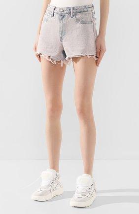 Женские джинсовые шорты DENIM X ALEXANDER WANG розового цвета, арт. 4DC1204552 | Фото 3 (Женское Кросс-КТ: Шорты-одежда; Кросс-КТ: Деним; Длина Ж (юбки, платья, шорты): Мини; Материал внешний: Хлопок; Стили: Кэжуэл)