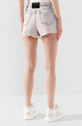 Женские джинсовые шорты DENIM X ALEXANDER WANG розового цвета, арт. 4DC1204552 | Фото 4 (Женское Кросс-КТ: Шорты-одежда; Кросс-КТ: Деним; Длина Ж (юбки, платья, шорты): Мини; Материал внешний: Хлопок; Стили: Кэжуэл)