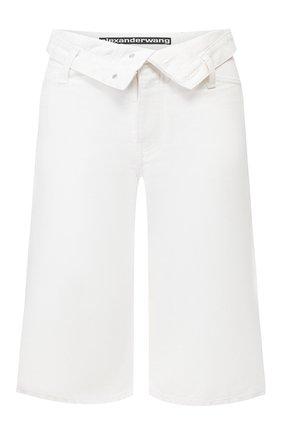 Женские джинсовые шорты DENIM X ALEXANDER WANG белого цвета, арт. 4DC1204686 | Фото 1