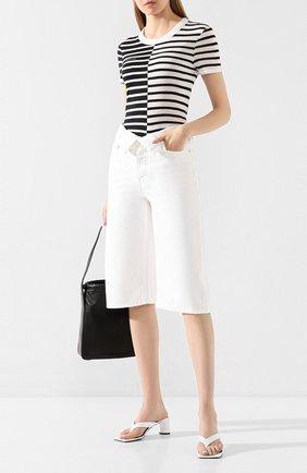 Женские джинсовые шорты DENIM X ALEXANDER WANG белого цвета, арт. 4DC1204686 | Фото 2